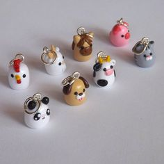 Polymer Clay Animal Charms - Miniature Clay Animals - Polymer Clay Charms - Your W . Polymer Clay Animal Charms – Miniature Clay Animals – Polymer Clay Charms – Your W … – … – Polymer Clay Kawaii, Fimo Clay, Polymer Clay Projects, Polymer Clay Charms, Polymer Clay Jewelry, Polymer Clay Tutorials, Resin Crafts, Clay Earrings, Polymer Clay Figures