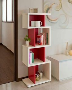 60 Best Of Corner Shelves Ideas 047 Bookshelf Design, Wall Shelves Design, Corner Shelves, Cube Shelves, Home Decor Furniture, Furniture Design, Regal Design, Interior Design Living Room, Kitchen Interior