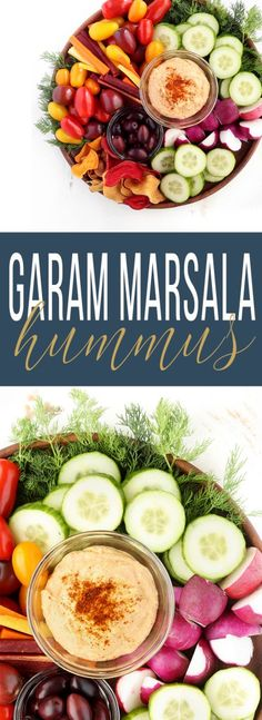 Super Creamy Garam Masala Hummus infused with bold spices and featuring simple, whole foods ingredients.