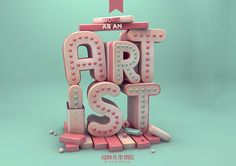 #3D #design #typography