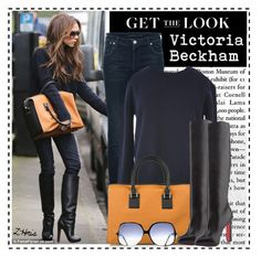 Celeb Style: Victoria Beckham by ellize-back on Polyvore featuring CÉLINE, dVb Victoria Beckham, Victoria Beckham, Cutler and Gross and Christian Louboutin