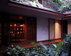 Serene House with Courtyard Pond