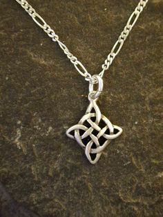 Sterling Silver Celtic Pendant on Sterling Silver Chain.. $28.00, via Etsy.