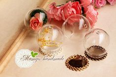 3Sets 35/30/25/20MM Glass Globe Bottle With Top Hole, Glass Globe Necklace Pendant,Glass Bulb Pendant,Shadow Box Pendant