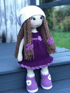PATTERN Crochet Adry Doll Purple Dress PATTERN Crochet Doll   Etsy