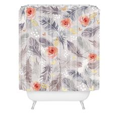 Deny Designs Marta Barragan Camarasa Abstract with feathers Shower Curtain