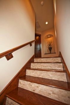 Beautiful Thin Brick Staircase With Decorations Ceilings