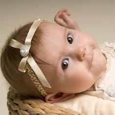 Newborn Girl Headband - Louisa Christening/Baptism Collection - Designer Gowns & Headbands