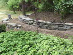 diy stack stone retaining wall