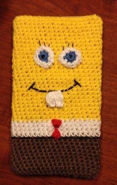 Crochet mobilecover Spongebob squarepants