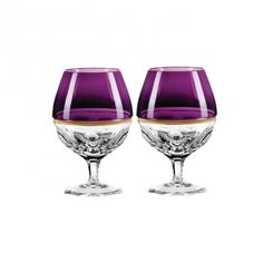 Waterford Elysian Collection, Elysian Amethyst Brandy Glass   Designed by Jo Sampson