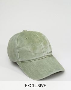 66c64811c00 Reclaimed Vintage Washed Baseball Cap In Khaki