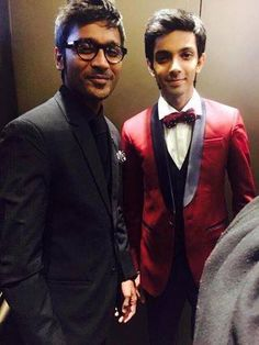Vijay Awards in London 2015 with actor Dhanush and music composer Anirudh