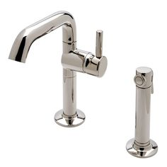 Discover .25 One Hole High Profile Kitchen Faucet, Short Metal Handle and Metal Spray Online   Waterworks