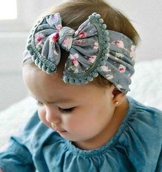 Trendy diy baby headbands and bows top knot 64 ideas Diy Baby Headbands, Diy Headband, Baby Bows, Little Girl Headbands, Crochet Headbands, Elastic Headbands, Sewing For Kids, Baby Sewing, Head Wrap Headband