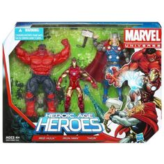Amazon.com: Super Hero Adventures Marvel Universe Heroic Age Heroes Pack: Toys & Games