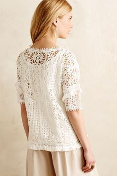 Fringed Lace Top - anthropologie.com