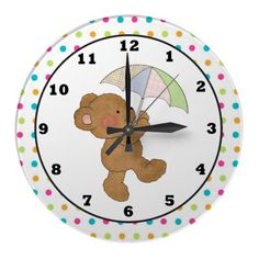 Cartoon Baby Bear wall clock