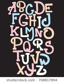 Hand drawn trendy font. Custom handwritten alphabet. Original Letters. Vintage retro hand drawn typeface . Vector illustration.