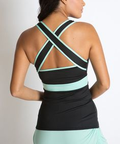 Look at this Black & Green Cross-Back Motivational Tank on #zulily today!