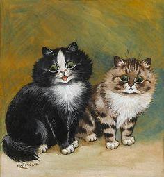 Two Little Kittens, United Kingdom, date unknown, by Louis Wain.