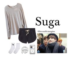 """""""Cuddling with Suga"""" by bts-outfit-imagine ❤ liked on Polyvore featuring art, simple, kpop, korean, bts and Suga"""