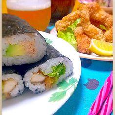 ともさんの、やっと作りました(*^^*) めちや美味しい(*^^*) 巻き寿司にもクリスピー入れて巻き巻き♪ 子供たち食べる、食べる(笑)  後は、ツナマヨとアボカドの巻き寿司♪ - 126件のもぐもぐ - ともさんのクリスピーささみスティック♪で、 恵方巻き♪ by kanomama