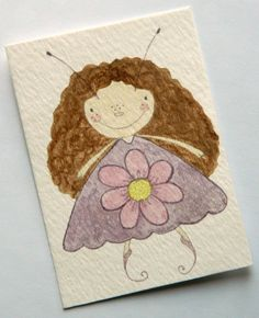 Watercolour Fairy ACEO OOAK Painting  'Jasmine' by JuliaPeculiar