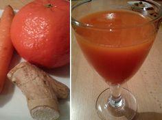 Recept na mrkvový koktejl s pomerančem a zázvorem. Osvěžující nápoj, nabitý vitamíny a minerály, je vhodný pro celou rodinu.