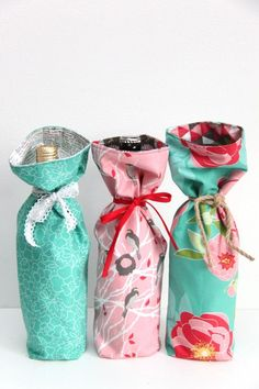 How to Make a Wine Bag in 10 Minutes #iloverileyblake #fabricismyfun
