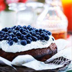 Saftig citronkaka med krämig ricotta och blåbär | Matmagasinet