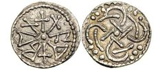 Silver Sceat-Penny of Beonna (c. 749-760 C.E.), King of East Anglia. First silver penny of East Anglia