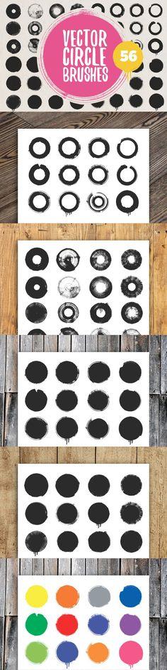 Vector circle brushes. Photoshop Brushes. $7.00