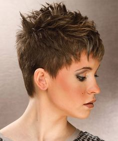 back view of short spikey hairstyles for women - Google Search