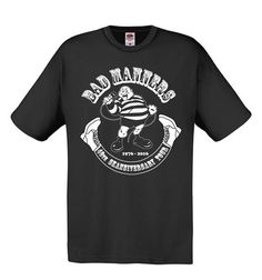 Bad Manners Black 40th SKAnniversary T-shirts / BAD MANNERS OFFICIAL MERCHANDISE