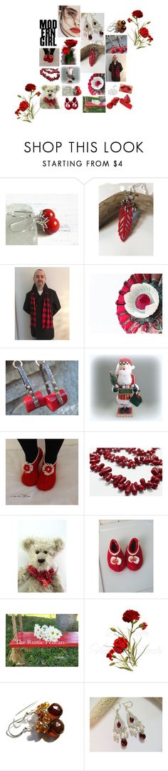 """Red Zone"" by therusticpelican ❤ liked on Polyvore featuring Lily Jean, modern, contemporary, rustic and vintage"
