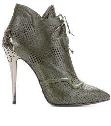 "Fendi PERFORATED-CUERO-tobillo-Tendencias Zapatos Mujer ""Otono Invierno 2013_2014"" TheGoldenStyle"