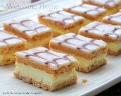 Image result for custard squares with graham crackers