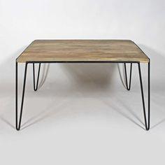 table scandinave bois metal