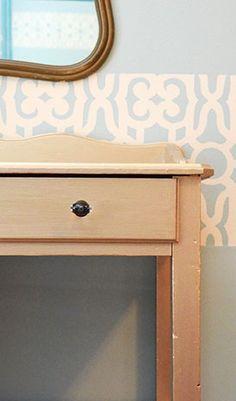 Gold Desk using Martha Stewart Paint