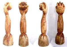 Emerging Eye Olive wood sculpture by ellenisworkshop on Etsy, $860.00