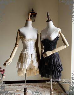 Chiffon Lover-Waltz, Elegant Gothic Lolita Underbust Steel Boned Corset*FREE EXPRESS SHIPPING