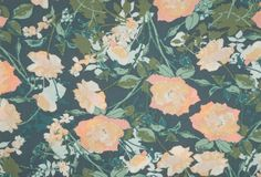Art Gallery Fabrics Quilting Cotton #bethemaker #thefabricsnob #slowfashion #customfashion #sewing #sewist #fabric #thefabricsnob #sew #homemade #sewing #florals #quiltingcotton #AGF #picturesque Art Gallery Fabrics, William Morris, Slow Fashion, Green Leaves, Art Decor, Florals, Quilting, Peach, Colours