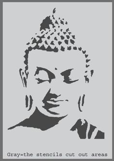 For home decor, Wall Art and many other art projects. Check out our Buddha and many other iconic stencils at Ideal Stencils, the hub of stencils and stenciling. UK Supplier of Stencils. Buddha Tattoo Design, Buddha Tattoos, Buddha Drawing, Buddha Painting, Rock Painting, Stencil Printing, Stencil Art, Paint Stencils, Stencil Patterns