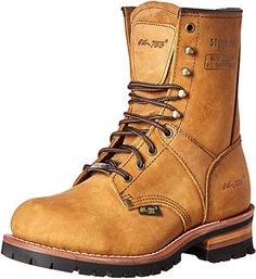 Buy AdTec Super Logger Steel Toe Boots for Men, Leather Goodyear Welt Construction & Utility Footwear, Durable and Long Lasting Work Shoes, Lug Sole, Brown Waterproof Leather Men, Leather Boots, Saddle Leather, Good Work Boots, Mens Work Boots, Mens Brown Boots, Accessoires 4x4, Men's Shoes, Shoe Boots