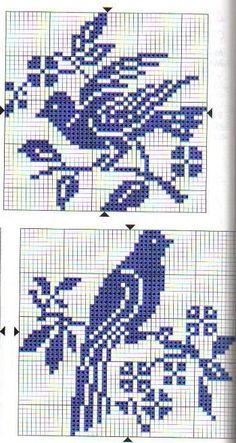 Birds cross stitch.