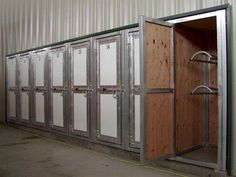 Tack lockers are a great idea for boarding barns. I really like the idea of everyone being able to lock their stuff and have their own space