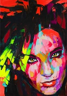 knife painting by Francoise Nielly