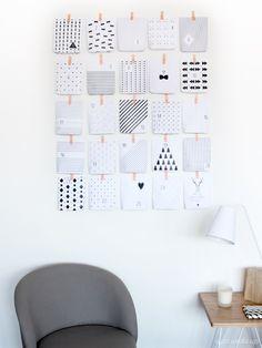 DIY Advent calendar paper Free printable © eyeswakeup