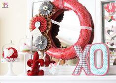 Valentineu0027s Day Mantel Décor Ideas